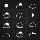 Modern Clean Weather Symbols Royalty Free Stock Photos