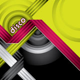Modern designed disco banner. With abstract elements Stock Photos