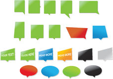 Modern designed speech bubbles. Speech bubbles, suitable as icons or elements for print Royalty Free Stock Photos
