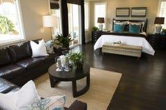 Modern designer bedroom. Royalty Free Stock Photography