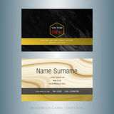 Modern designer business card layout templates. Easy to use by print a special offer or add your own logo, images, and text, whatever you want Royalty Free Stock Photos