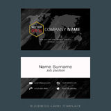 Modern designer business card layout templates. Easy to use by print a special offer or add your own logo, images, and text, whatever you want Royalty Free Stock Photography