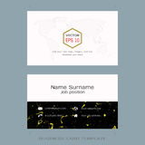 Modern designer business card layout templates. Easy to use by print a special offer or add your own logo, images, and text, whatever you want Stock Image