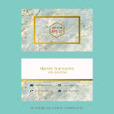 Modern designer business card layout templates. Easy to use by print a special offer or add your own logo, images, and text, whatever you want Stock Photography