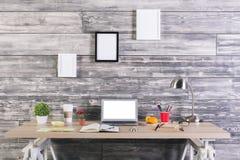 Modern designer desk Stock Photos