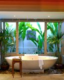 Modern designer interior bathroom spa architecture Royalty Free Stock Photo