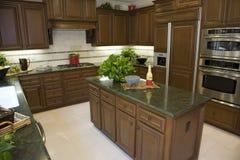 Modern designer kitchen. Royalty Free Stock Photos