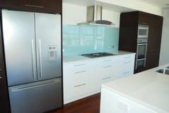 Modern designer kitchen stock photos
