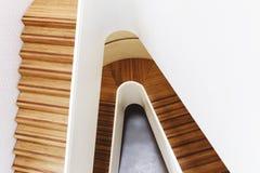 Modern designer staircase in minimalist building interior. Stunning staircase in modern building Stock Photo