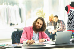The modern designer works on new models royalty free stock photo