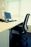 Modern desk. Partial view of a modern workplace Royalty Free Stock Photography