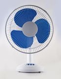 Modern desk cooling fan over white and grey Royalty Free Stock Image