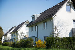 Modern detached buildings in munich bavaria, with blue sky Royalty Free Stock Photos