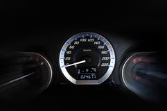 Modern detail with the gauges on the dashboard of a car Royalty Free Stock Images
