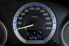 Modern detail with the gauges on the dashboard of a car Royalty Free Stock Photography