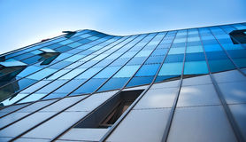 Modern detail of a glass building Royalty Free Stock Photo
