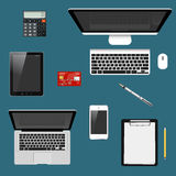 Modern detailed icons collection Stock Photo