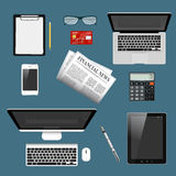Modern detailed icons collection Royalty Free Stock Images
