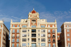 Modern details architecture of Spanish city. Malaga Royalty Free Stock Photography