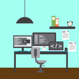 Modern developer workspace vector. For your ideas Stock Photography