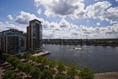 Modern development. Modern luxury development on the riverside in london Stock Images