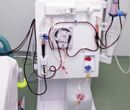 Modern device of artificial kidney. The process of dialysis Royalty Free Stock Image