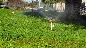 Modern device of irrigation garden. Irrigation stock video footage