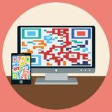 Modern devices flat illustration Royalty Free Stock Photo