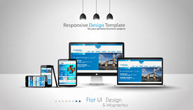 Modern devices mockups fpr your business projects. Stock Images