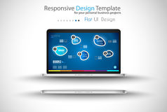 Modern devices mockups fpr your business projects Stock Image