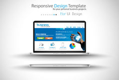 Modern devices mockups fpr your business projects Royalty Free Stock Photography