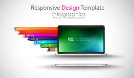 Modern devices mockups fpr your business projects. Webtemplates included Stock Photography