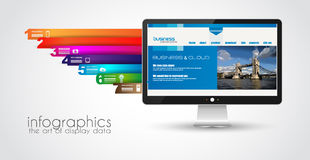 Modern devices mockups fpr your business projects. Webtemplates included Royalty Free Stock Photography