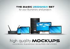 Modern devices mockups for your business projects Royalty Free Stock Photos