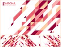 Modern diagonalabstrakt begreppbakgrund Royaltyfri Fotografi