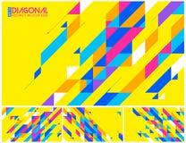 Modern diagonalabstrakt begreppbakgrund Arkivfoton