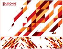 Modern diagonalabstrakt begreppbakgrund Royaltyfria Bilder