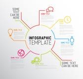 Modern die Infographic-rapportmalplaatje van lijnen wordt gemaakt Royalty-vrije Stock Foto's