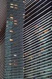 Modern die Nacht der hohen Gebäude astana kazakhstan Lizenzfreie Stockfotografie