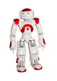Modern die robotstuk speelgoed op wit wordt geïsoleerd royalty-vrije stock foto's