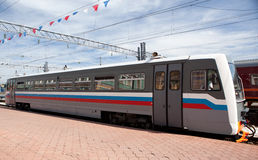 Modern diesel locomotive Royalty Free Stock Photo