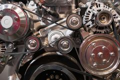 Modern dieselmotor royaltyfri fotografi