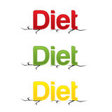 Modern DIET design letters Royalty Free Stock Photos