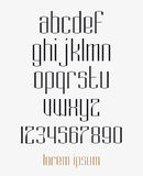 Modern different line font Royalty Free Stock Images