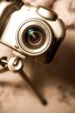 Modern digitaal camerastilleven Stock Afbeeldingen