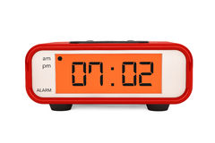 Modern Digital Alarm Clock Royalty Free Stock Photos