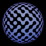 Modern digital ball with labyrinth surface Stock Photo