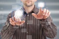 Modern digital buttons Stock Photos