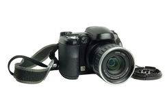 Modern Digital Camera Isolated Royalty Free Stock Photos