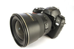 Modern Digital Camera Isolated On White 1 Royalty Free Stock Image